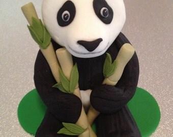 Panda Cake Topper edible fondant icing