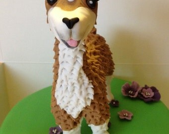 Llama Cake Topper edible fondant icing