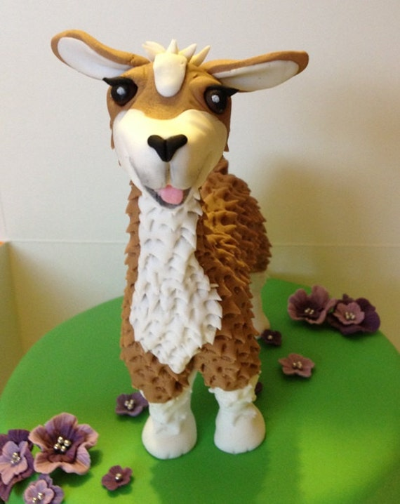 Items similar to Llama Cake Topper edible fondant icing on ...