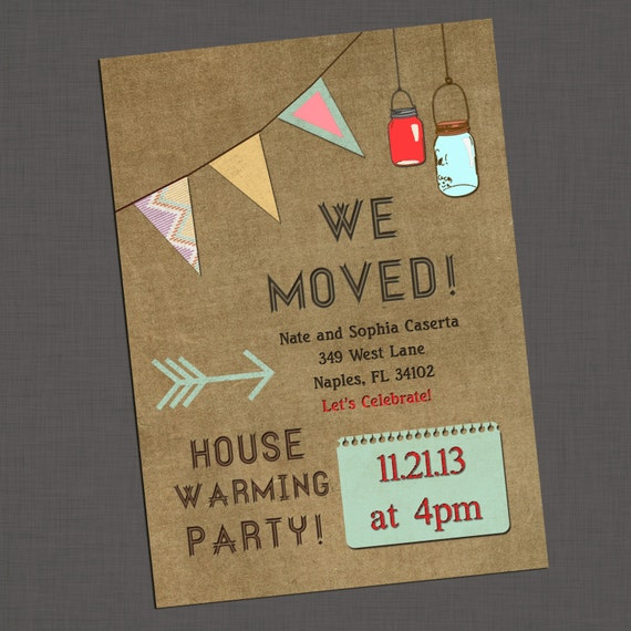 Items similar to Housewarming Party Invitation on vintage ...
