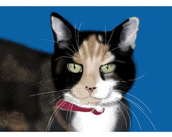 Cat Greeting Card, Blank, Scootle Design No A6036