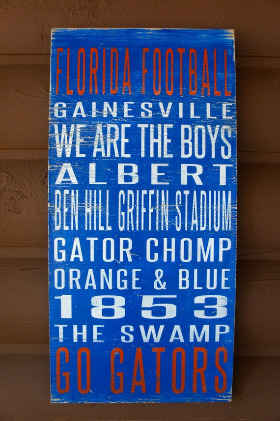 University of Florida Distressed Wood Sign--Great Father's Day Gift!