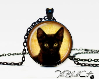 Halloween necklace Black cat Pendant Black cat necklace Black cat jewelry