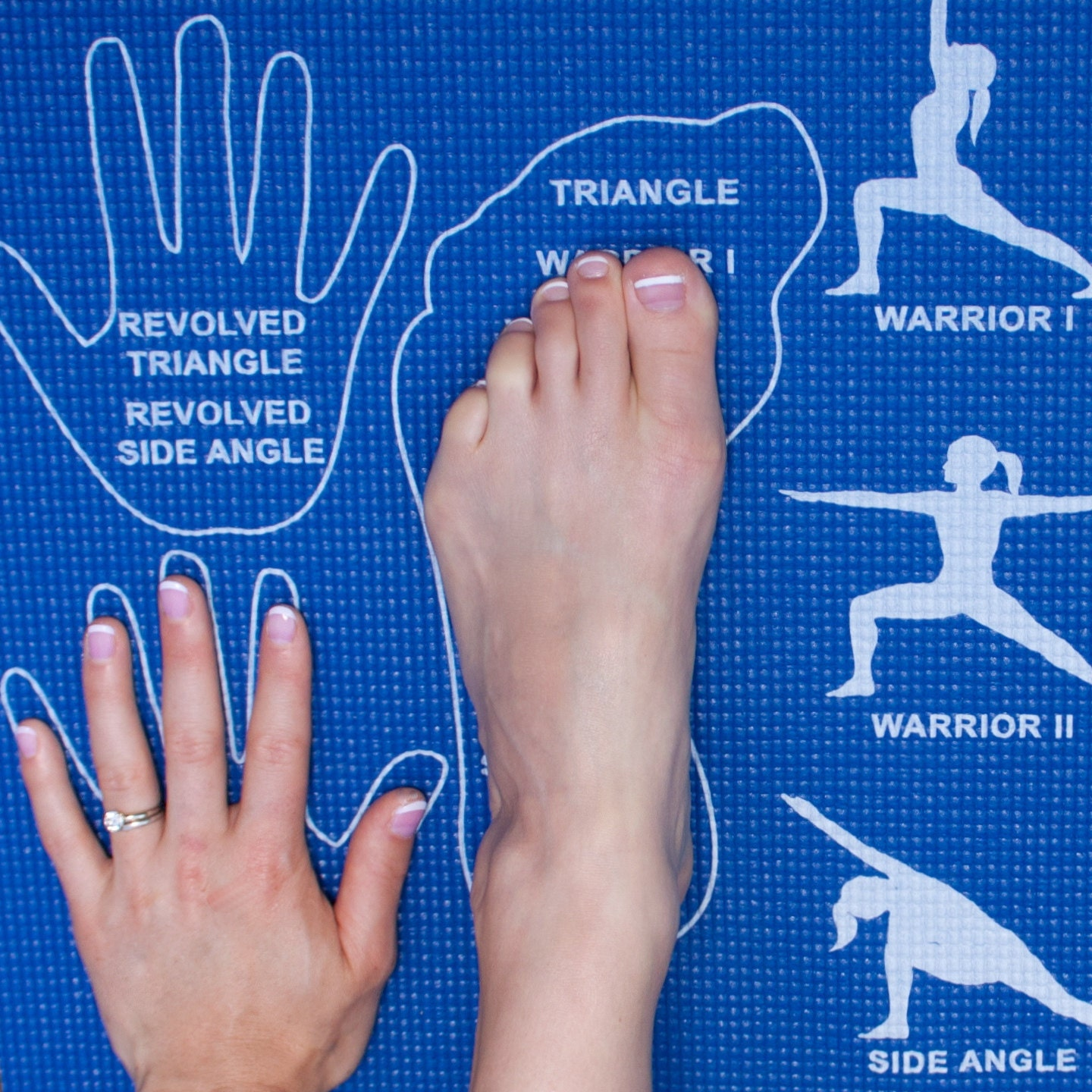 Instructional Yoga Mat / Alignment Yoga Mat With By