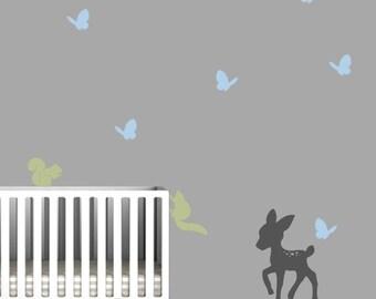 Nursery Forest Animals Wall Mural