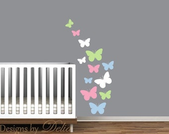 Colorful Butterfly Decals for Children's Room