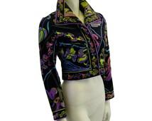Vintage Emilio Pucci Velvet Jacket - Lily Print - 1970s