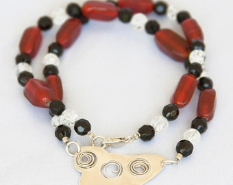 Deep Indian Red Glass Necklace
