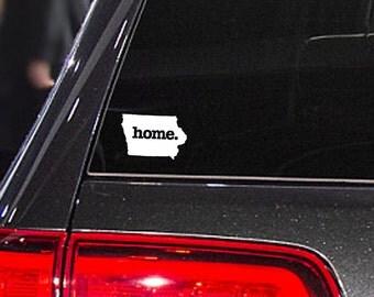 Iowa Home. Decal Car or Laptop Sticker