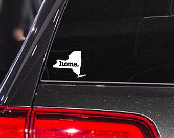 New York Home. Decal Car or Laptop Sticker