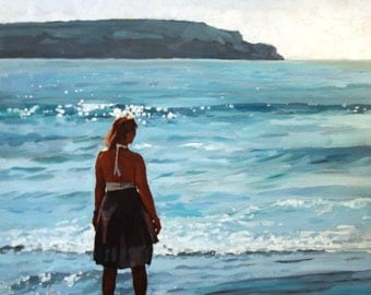 Shore Summer Girl Limited Edition print 28/150