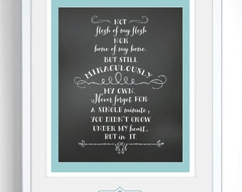 Beautiful Adoption Creed Print - Digital Files (PDF, JPG)