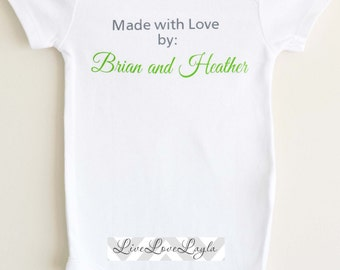 Made With Love Baby Bodysuit / Baby Bodysuit / Cute Baby Creeper