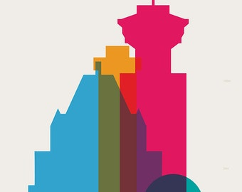 Shapes of Vancouver art print