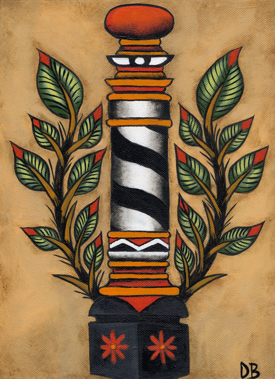 Barber Pole Tattoo : Barber Pole Cake Tattoo Pictures