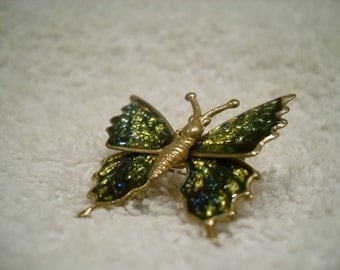 Enamel buttterfly brooch