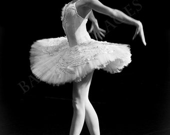 Ballerina Photo in Black & White, Russian Dancer Performing the Dying Swan in St Petersburg, Russia. Fine Art Print A4 (210mm x 297mm) #5