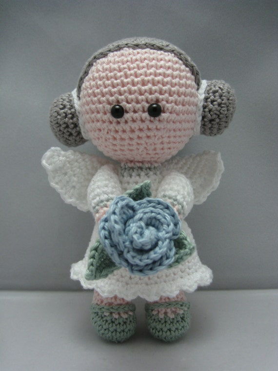 Flower Angel Instant download Amigurumi doll crochet pattern