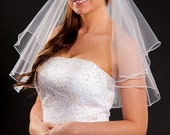 2 layer elbow length veil