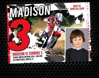 Motocross Birthday Invitation