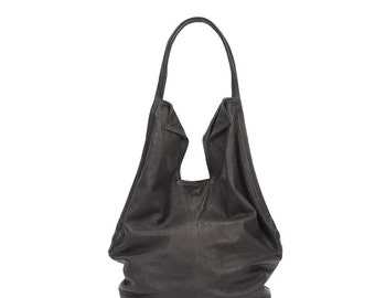 Black Leather Tote Bag Soft Leather Bag Shoulder Bag