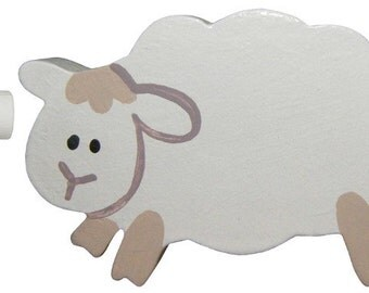 Lamb Drawer Knob - Leaping Lamb Drawer Pull