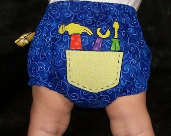 Baby Boy Tools and Robots Diaper Covers PDF Sewing PATTERN/ Baby Boy Bottoms Tools and Robots Pattern