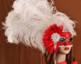 Hand Crafted Feather Mask (FM115)