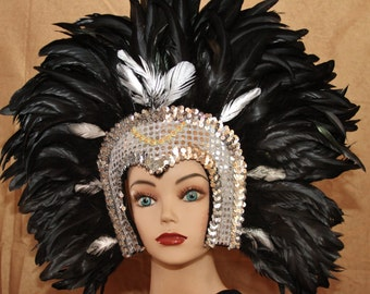Hand Crafted Feather Headdress (MH110)