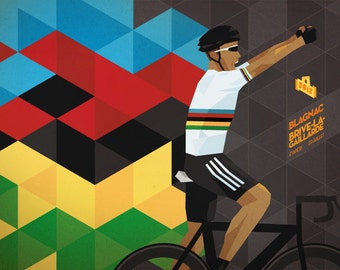 Tour de France Daily Poster - 2012 Stage 18