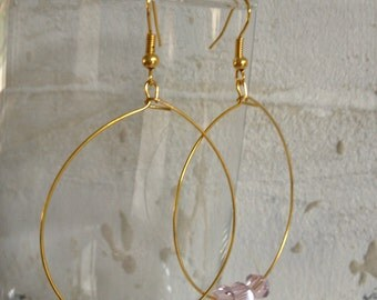 Handmade earrings with glass crystal