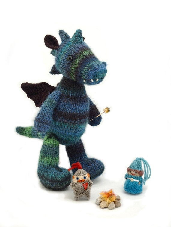 Free Knitting Pattern Dragon Toy : Dragon and Friends knitting pattern