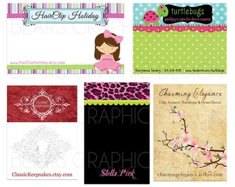 Custom Display Card Design for Hair Clips, Headbands, Hair Bows, Earrings, Jewelry - You Print