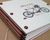 Personalized Bicycle Wedding Guest Book or Photo Booth Album - Expandable - Custom Made for You