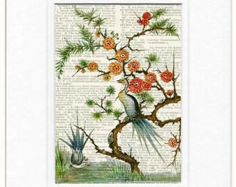 16oo's pheasant painting printed