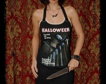 Halloween Dress horror Movie Shirt michael myers gothic clothing alternative apparel dark style altered tee t-shirt