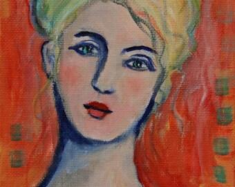 Eliza - Colorful Portrait Painting