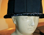 Vintage Hat - Navy Blue Straw, by Adele Claire - 1960s