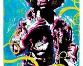 Jimi Hendrix Art Print Poster 12 x 18