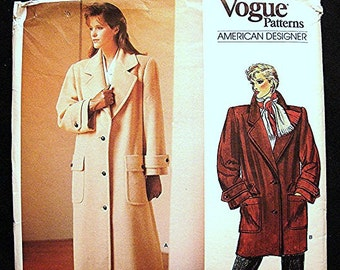 Vogue Designer Pattern, Anne Klein Womens Maxi Coat Pattern Misses size 12 UNCUT Loose Long Coat Sewing Pattern