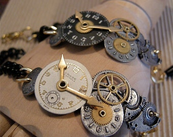 Steampunk Link Bracelet Unisex - Free Shipping USA -