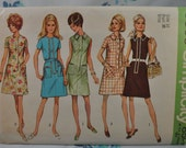 Simplicity 8809 - Cool Mod Dress Selection - 1960s/1970s Pattern - Size 16 (Bust 38) - Easy Sew - Larger Size - Pockets - Easy -  UNCUT