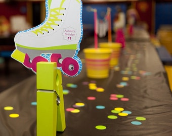 Roller Skate Birthday PRINTABLE Party Collection - You Customize EDITABLE TEXT >> Instant Download | Paper and Cake