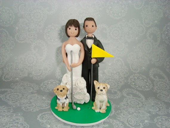 golf themed wedding cake toppers personalized golf theme wedding cake topper 14845
