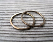 mens hoop earrings in antique bronze. men's jewelry. small niobium hoops.