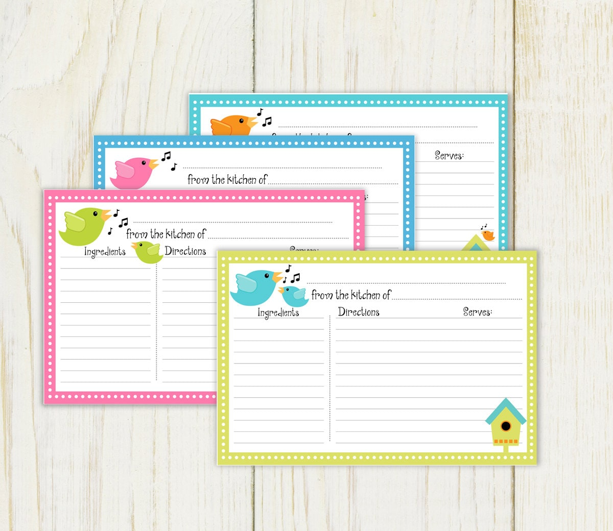 It's just a picture of Wild Free Printable Recipe Cards 4x6