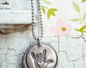 Sign Language Jewelry, Sign Language I Love You, Sign Language Charm, Sign Language Gift for Her, Valentines Day Gift, Eco Friendly Silver
