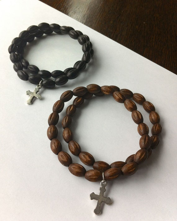 Handmade Men's Wooden Beaded Bracelet Choice of One