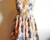 Kitty Cat Dress with peter pan collar - women's size S/M.