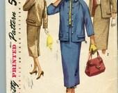 """Simplicity 1798 Vintage 50s Boxy Suit Pattern UNCUT - 34"""" Bust"""